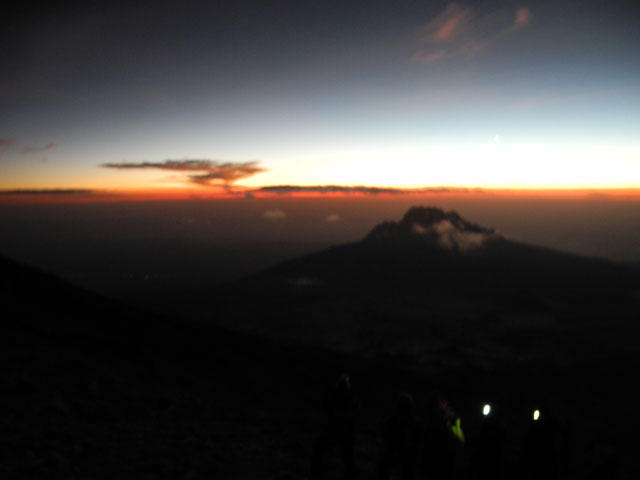 Sunrise on Mt. Kilimanjaro Summit Night