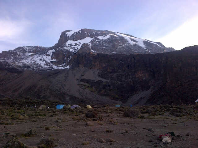 Mt. Kilimanjaro View from Tent at Barranco