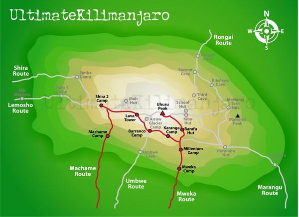 Machame - Mweka Route